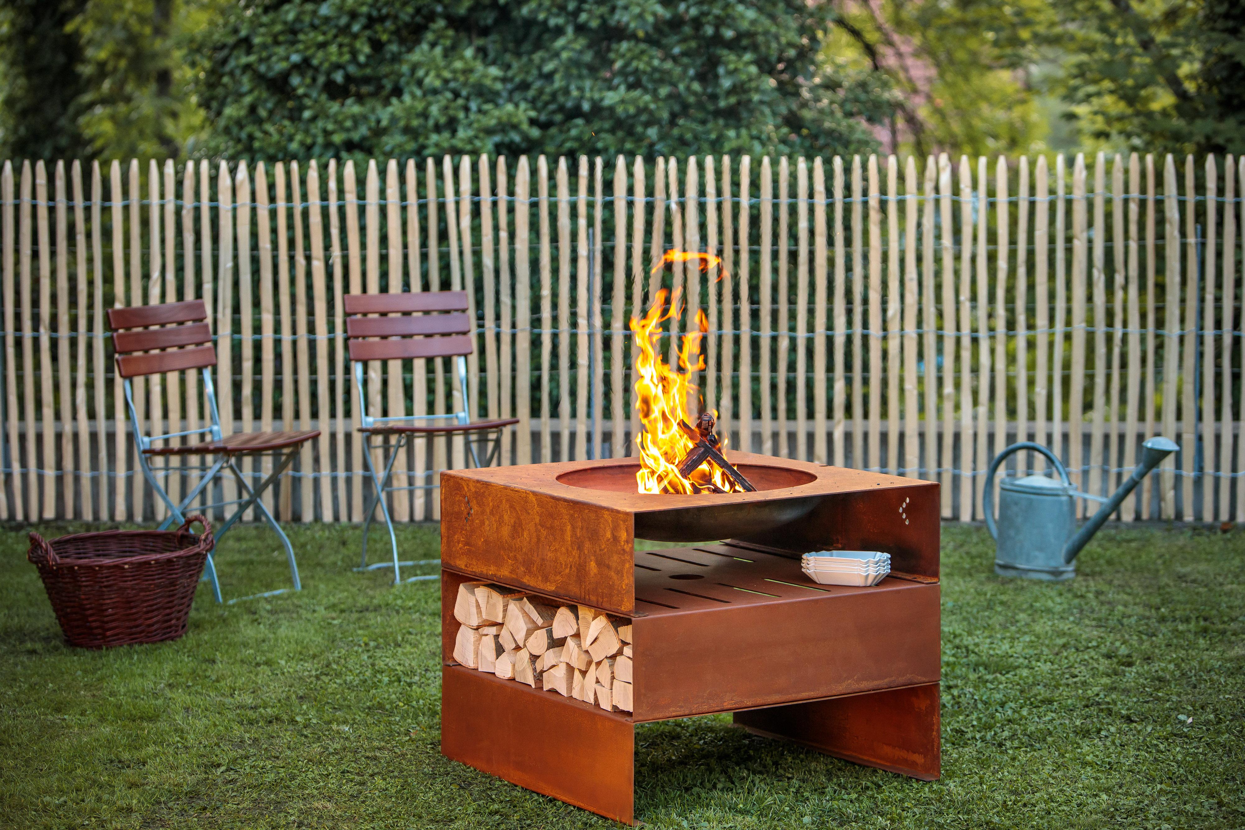 Feuerstelle Garten Rund : Tepro garten jacksonville rund feuerstelle schwarz grau a