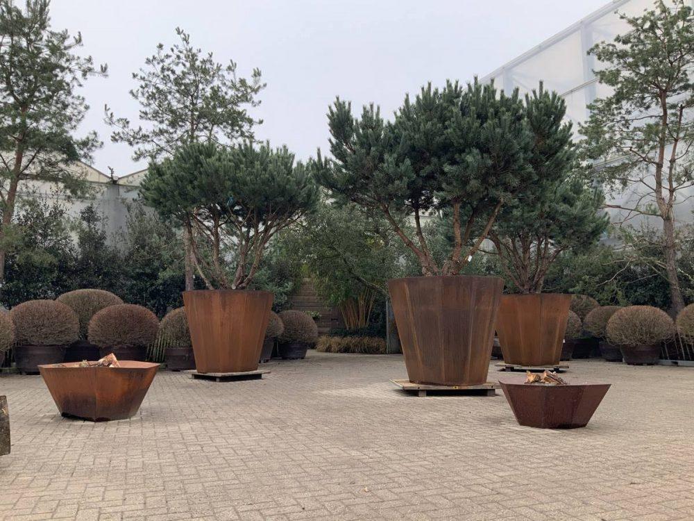 Cortenstahl Pflanzgefäß garten Wohnen Münster Outdoor Living